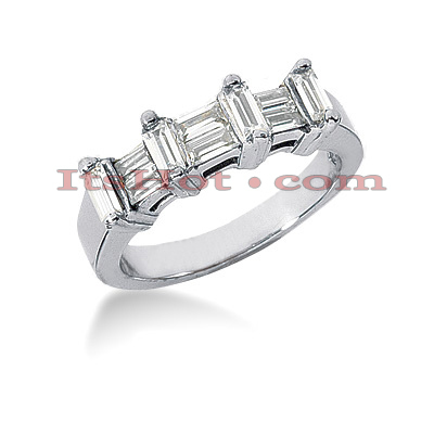 Thin 14K Gold Designer Diamond Engagement Ring Band 0.96ct