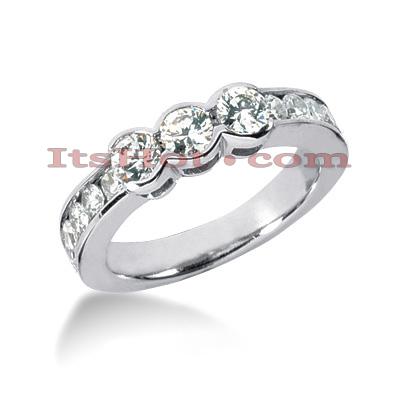 Thin 14K Gold Designer Diamond Engagement Ring Band 1.10ct