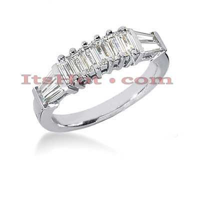 Thin 14K Gold Designer Diamond Engagement Ring Band 1.18ct