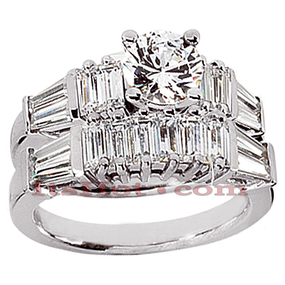 14K Gold Designer Diamond Engagement Ring Set 2.68ct
