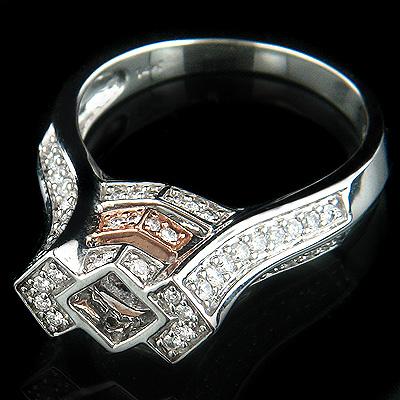 14K Gold Designer Diamond Engagement Ring Setting 0.75