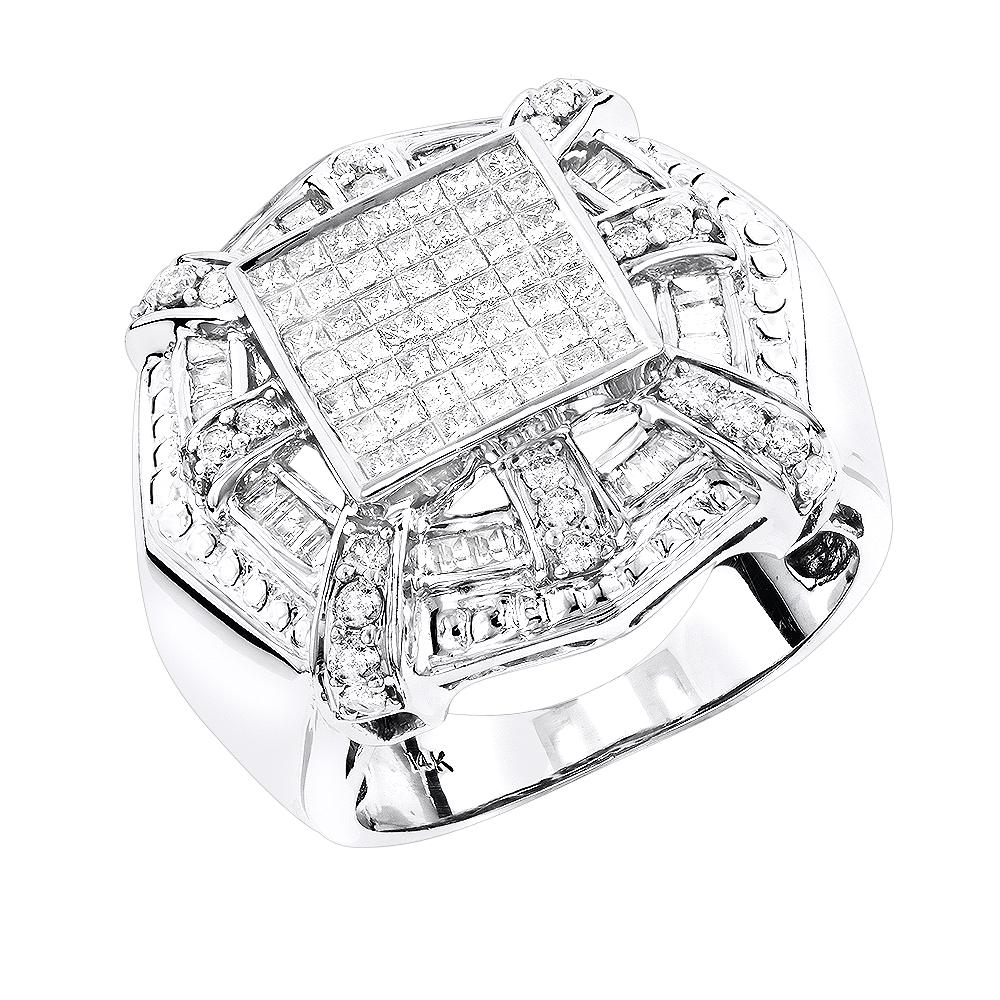 14K Gold Designer Diamond Ring Mens Collection 2.15ct
