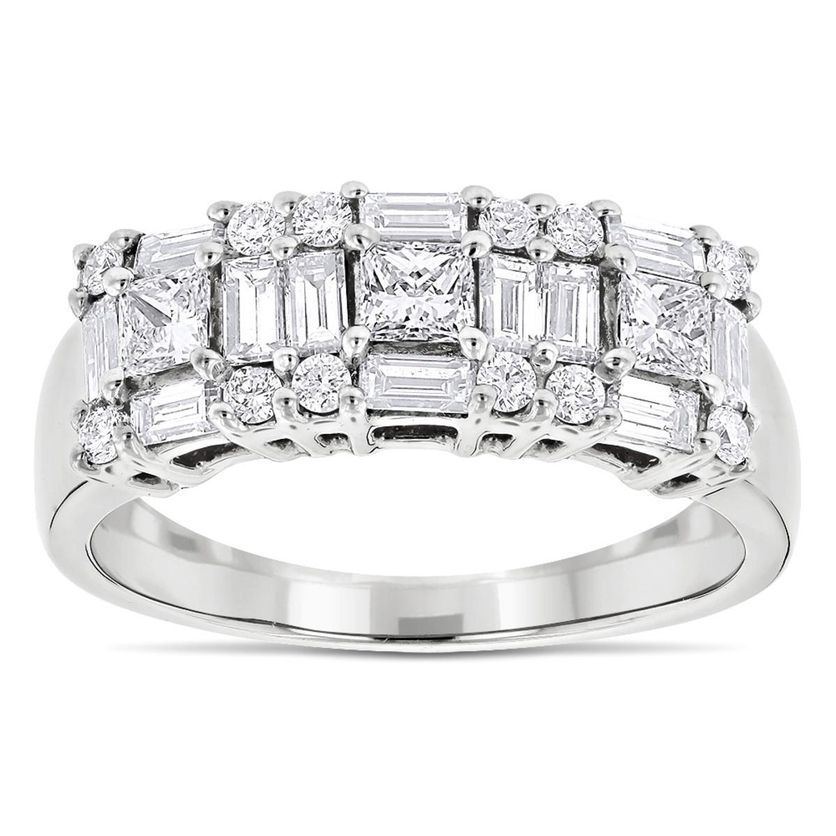 14K Gold Designer Diamond Wedding Band for Women 1.25ct