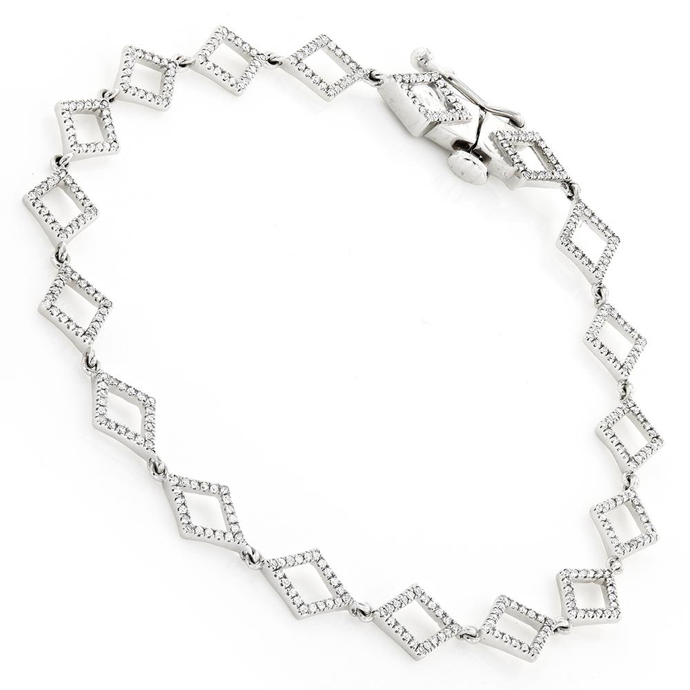 14K Gold Diamond Bracelet For Women 0.65ct