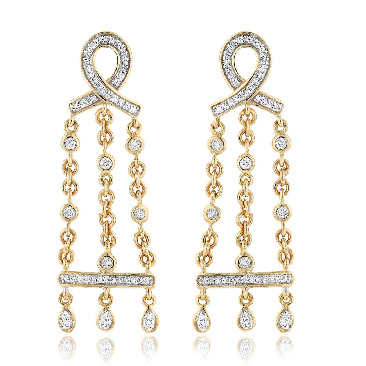 14k gold diamond chandelier earrings 036ct arubaitofo Choice Image