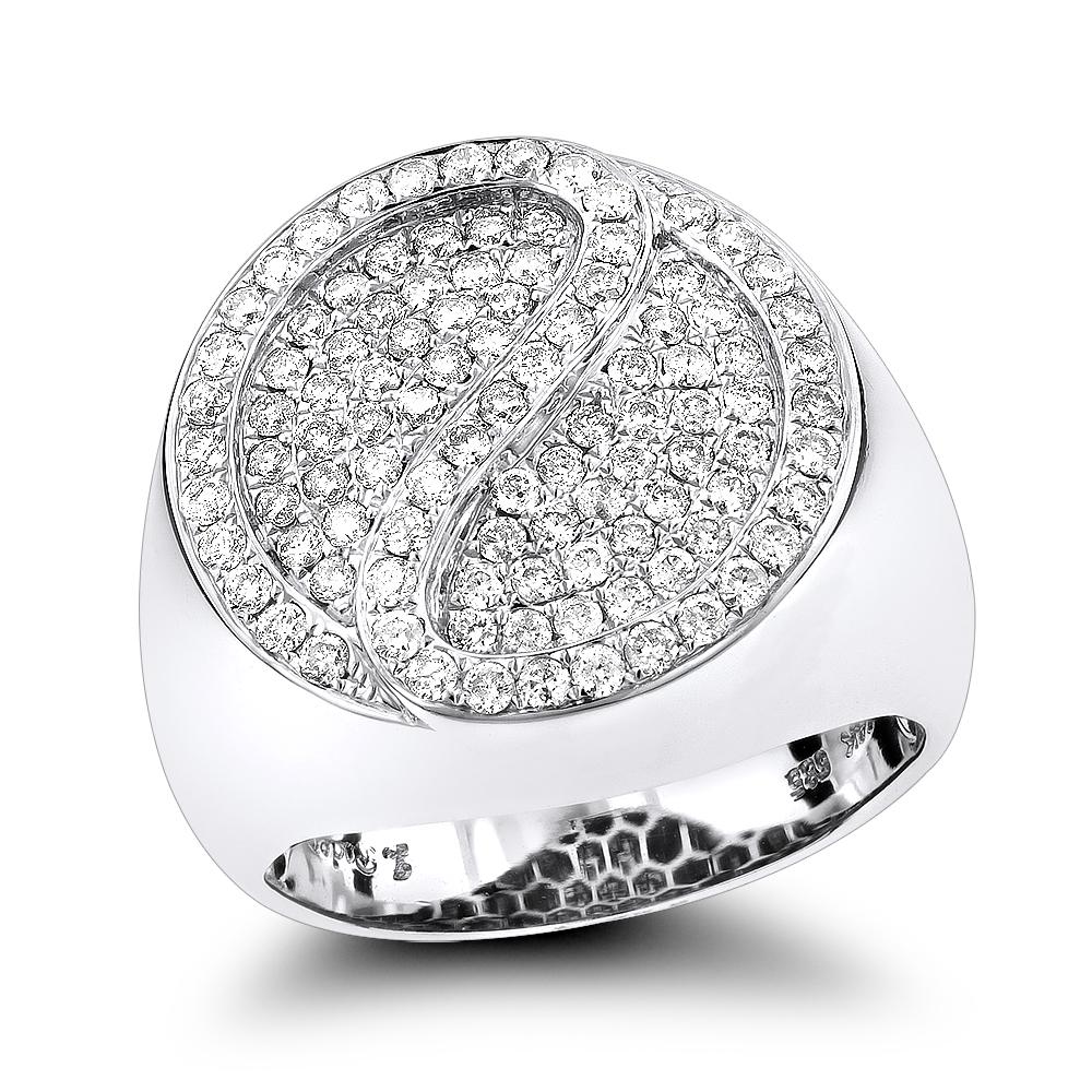 14K Gold Diamond Circle Ring 1.41ct