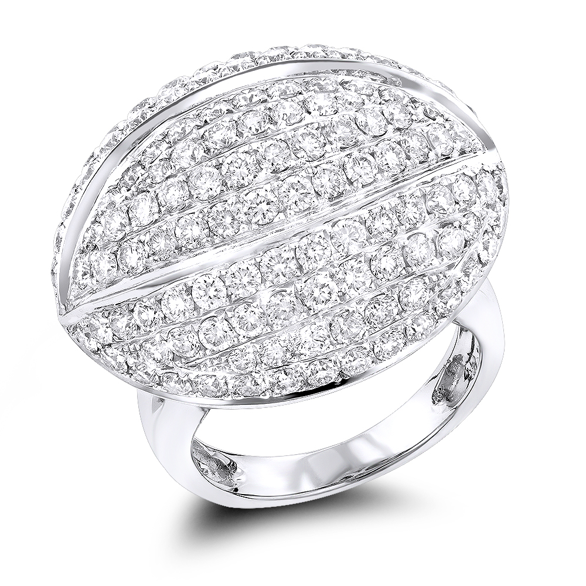 14K Gold Diamond Cocktail Ring 4.53ct