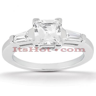 14K Gold Diamond Designer Engagement Ring 0.52ct