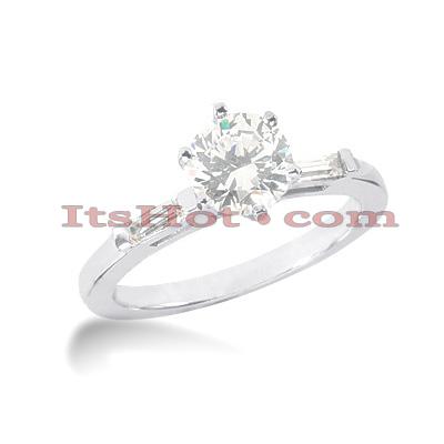 14K Gold Diamond Designer Engagement Ring 0.58ct