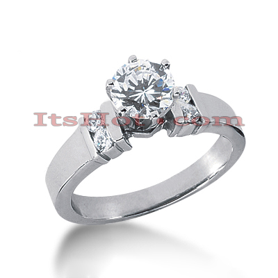 14K Gold Diamond Designer Engagement Ring 0.66ct