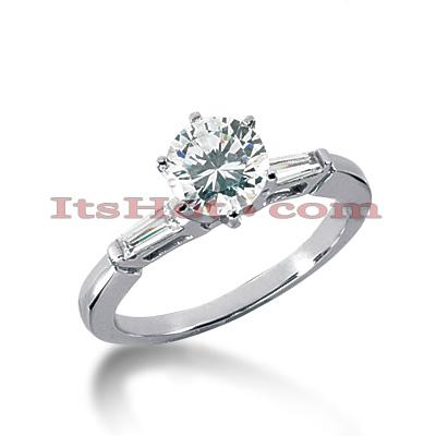 14K Gold Diamond Designer Engagement Ring 0.70ct