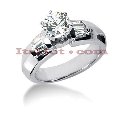 14K Gold Diamond Designer Engagement Ring 0.74ct