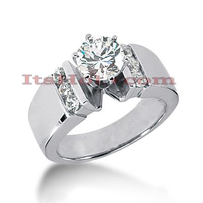 14K Gold Diamond Designer Engagement Ring 0.80ct