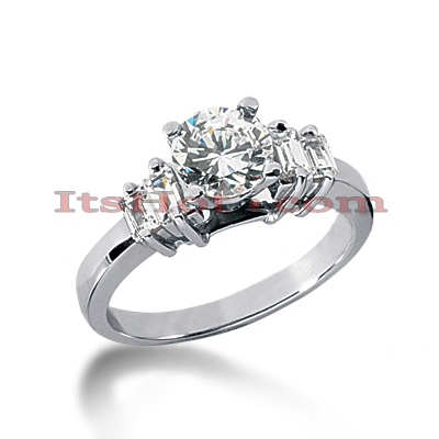 14K Gold Diamond Designer Engagement Ring 0.86ct