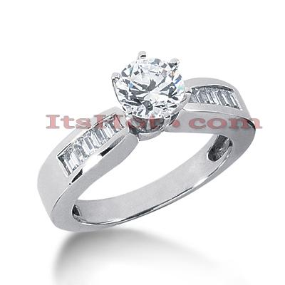 14K Gold Diamond Designer Engagement Ring 0.88ct