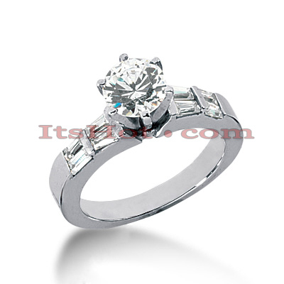 14K Gold Diamond Designer Engagement Ring 0.90ct