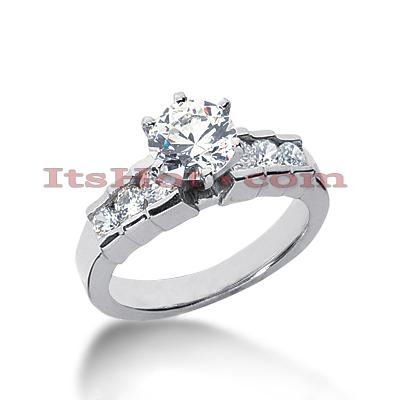 14K Gold Diamond Designer Engagement Ring 0.92ct