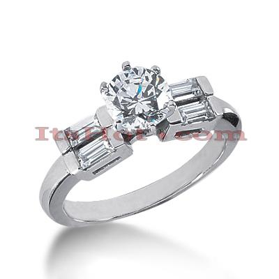 14K Gold Diamond Designer Engagement Ring 0.98ct