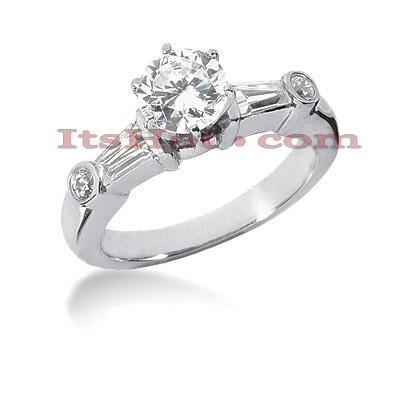 14K Gold Diamond Designer Engagement Ring 1.02ct
