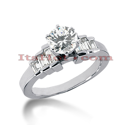 14K Gold Diamond Designer Engagement Ring 1.04ct