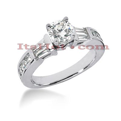 14K Gold Diamond Designer Engagement Ring 1.06ct