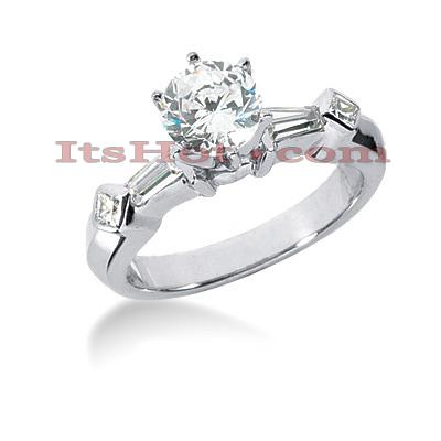 14K Gold Diamond Designer Engagement Ring 1.10ct