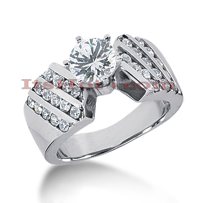 14K Gold Diamond Designer Engagement Ring 1.20ct