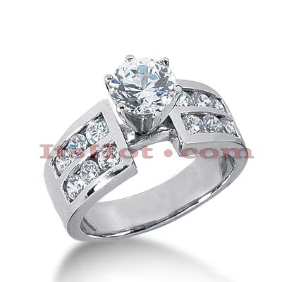 14K Gold Diamond Designer Engagement Ring 1.22ct