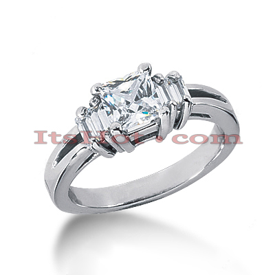 14K Gold Diamond Designer Engagement Ring 1.28ct