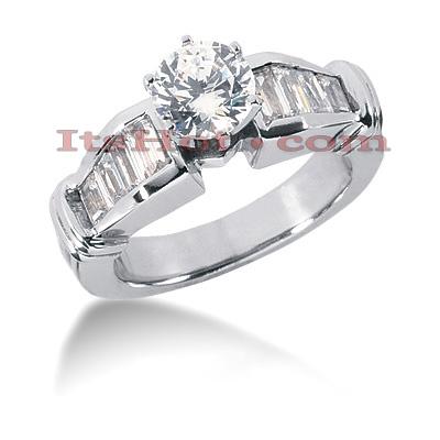 14K Gold Diamond Designer Engagement Ring 1.34ct