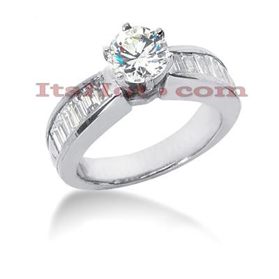 14K Gold Diamond Designer Engagement Ring 1.36ct