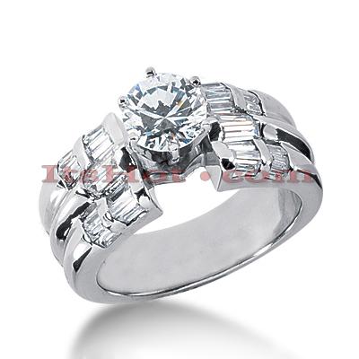 14K Gold Diamond Designer Engagement Ring 1.38ct