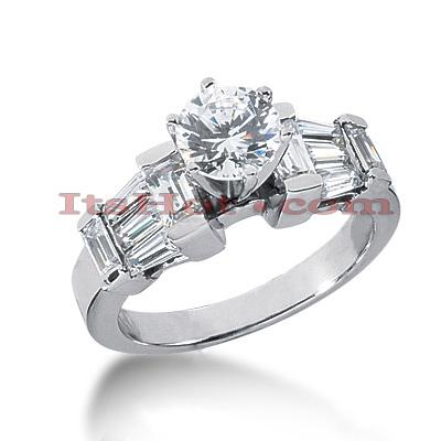 14K Gold Diamond Designer Engagement Ring 1.62ct