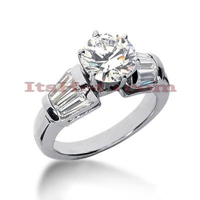 14K Gold Diamond Designer Engagement Ring 1.76ct