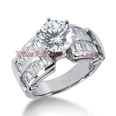 14K Gold Diamond Designer Engagement Ring 2.10ct