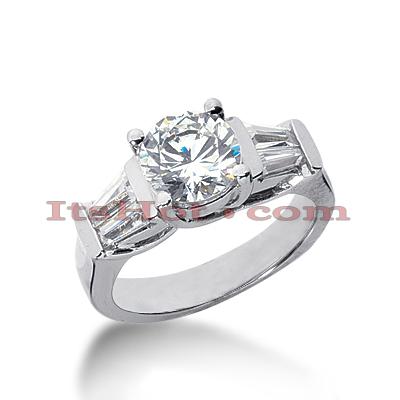 14K Gold Diamond Designer Engagement Ring 2.14ct