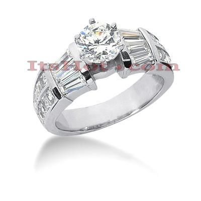 14K Gold Diamond Designer Engagement Ring 2.50ct