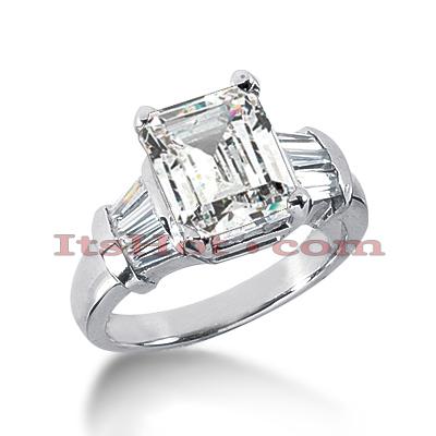14K Gold Diamond Designer Engagement Ring 3.60ct