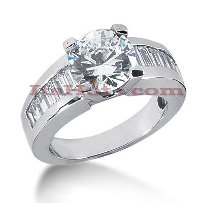 14K Gold Diamond Designer Engagement Ring 4ct