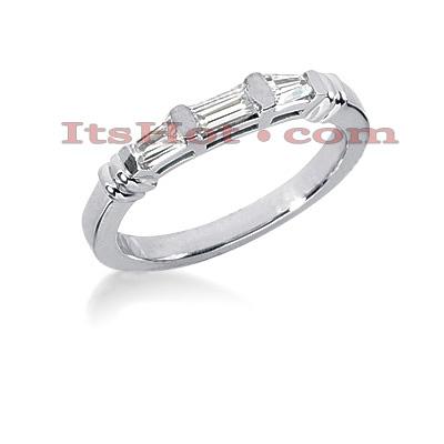 Thin 14K Gold Diamond Designer Engagement Ring Band 0.38ct