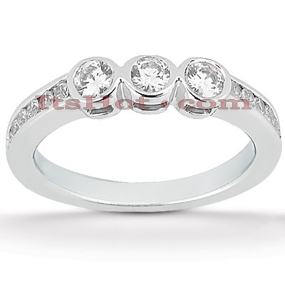 Thin 14K Gold Diamond Designer Engagement Ring Band 0.42ct