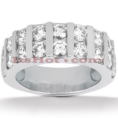 14K Gold Diamond Designer Engagement Ring Band 0.54ct