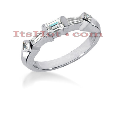 Thin 14K Gold Diamond Designer Engagement Ring Band 0.55ct