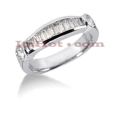 Thin 14K Gold Diamond Designer Engagement Ring Band 0.69ct