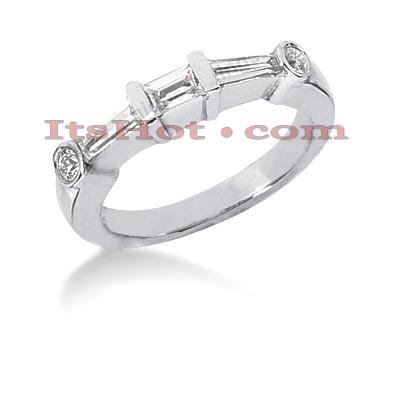 Thin 14K Gold Diamond Designer Engagement Ring Band 0.75ct