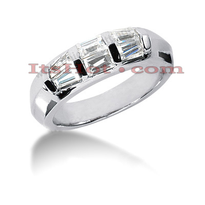 14K Gold Diamond Designer Engagement Ring Band 0.82ct