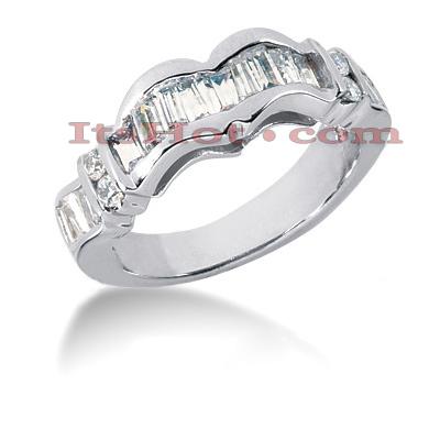 14K Gold Diamond Designer Engagement Ring Band 1.11ct