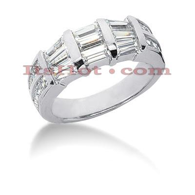 14K Gold Diamond Designer Engagement Ring Band 2.22ct
