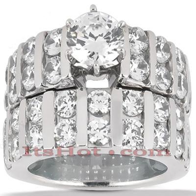 14K Gold Diamond Designer Engagement Ring Set 1.02ct