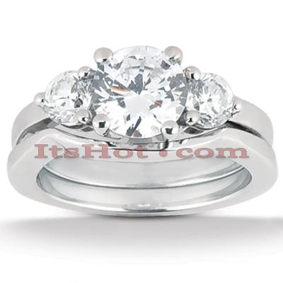 14K Gold Diamond Engagement Mounting Set 0.30ct